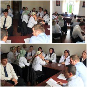 Сегодня директор ГКУ «КЦСОН» Ачхой-Мартановского района Сайдаев Р.З. провел совещание с заведующими отделений.